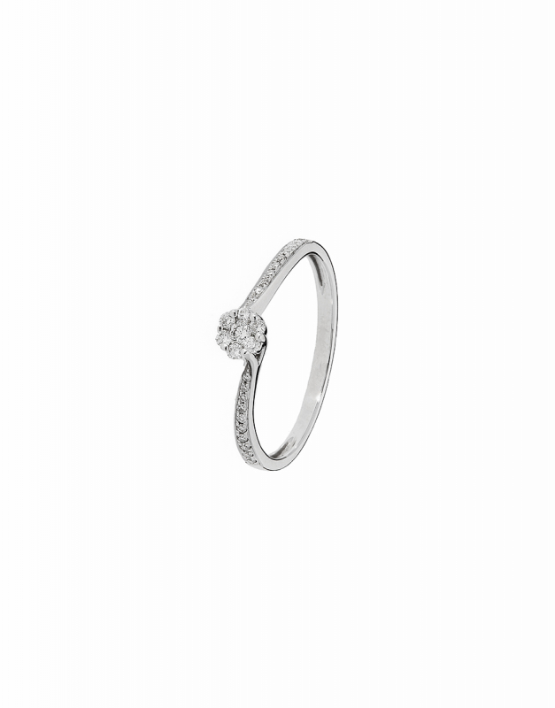 inel de logodna Bijuterie aur R4142-10-RD-W