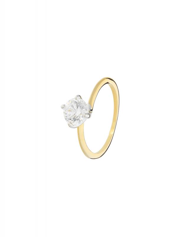 inel de logodna Bijuterii Aur Trendy I12-I9SZR200016-YW-SW