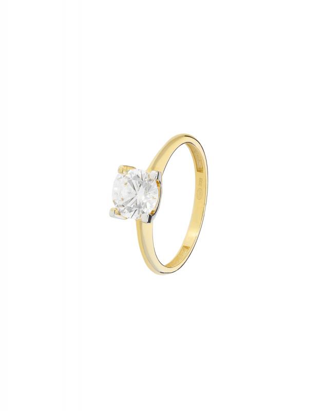 inel de logodna Bijuterii Aur Classic I17-I12SZR200023-YW-SW