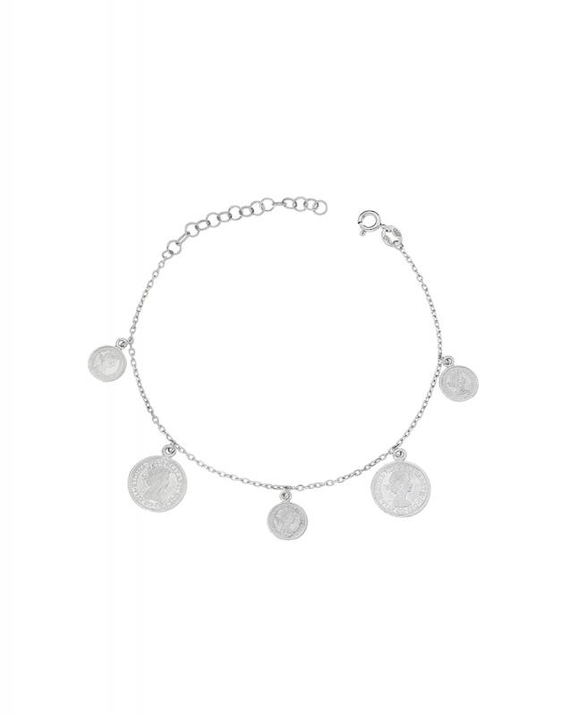 bratara Bijuterii argint Lucky Coin BRGG5354-RH