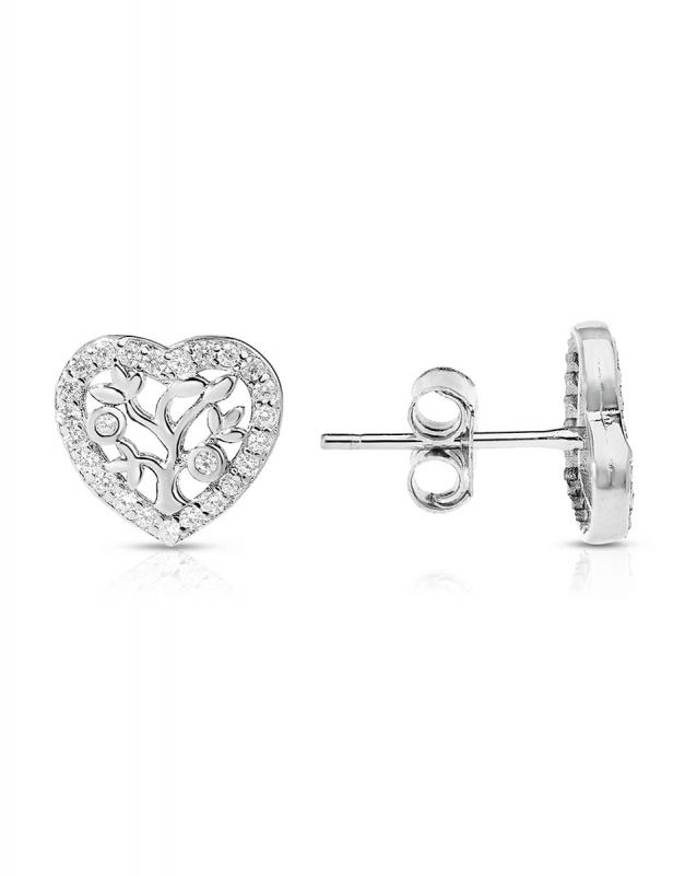 cercei Bijuterie Argint Love GS9715-EG-W