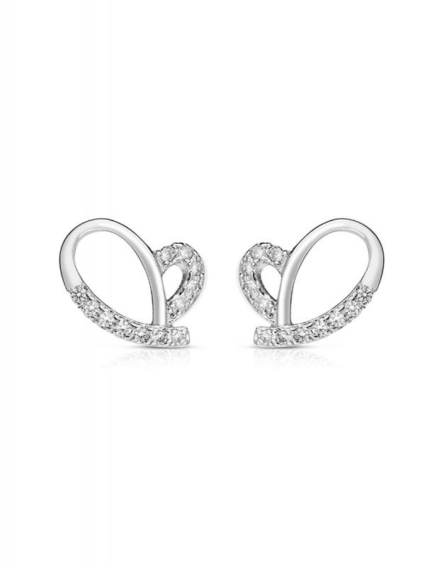cercei Bijuterie Argint Love GS9084-EG-W